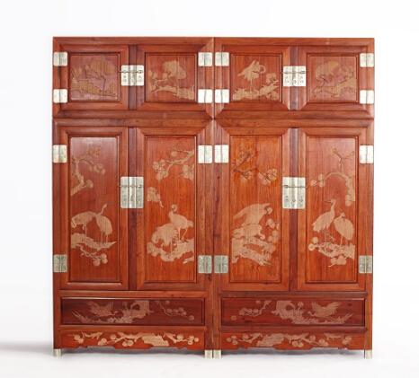 红木家具价格_缅甸花梨松鹤延年顶箱柜价格多少?