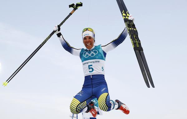 瑞典女将凭最后3公里强势表现 摘平昌冬奥首金