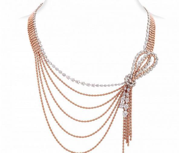 妮华莫迪推出新品包括白金戒指白金项链等套装