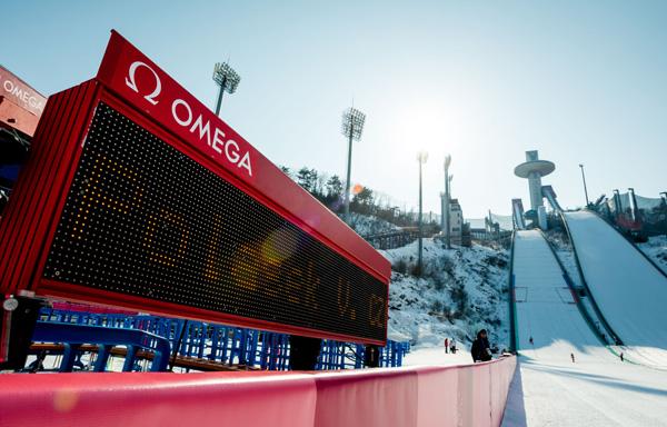 2018平昌冬奥会欧米茄 (OMEGA) 提供的计时设备