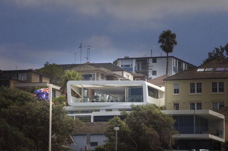 """Hewlett House豪宅:一所现代化居所中体现""""观景与庇护"""""""