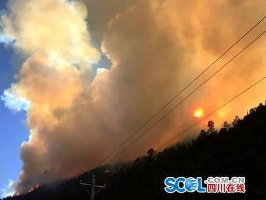 四川雅江发生森林火灾 国家应急预案IV级响应