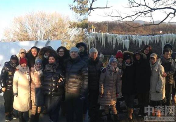 韩庚带卢靖姗回家见家长 和家人朋友一起拍照玩滑冰项目