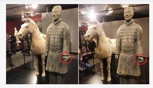 中国兵马俑没过展出手指被盗 盗窃者面临最高10年牢刑