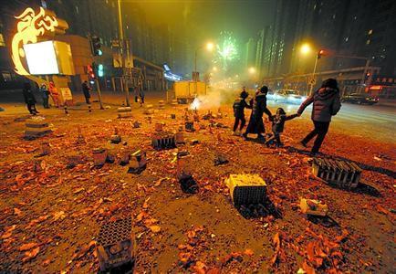广西春节烟花爆竹燃放等环境污染监测