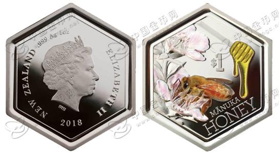 新西兰延续发行蜜蜂系列—麦卢卡蜂蜜纪念银币