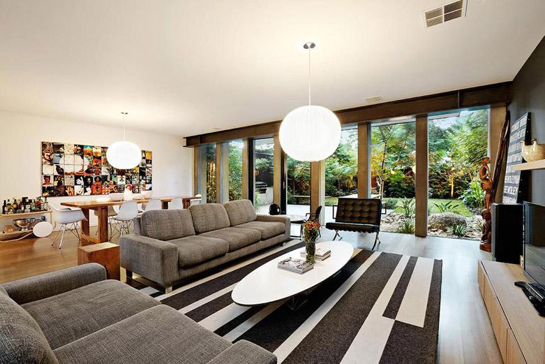 墨尔本风景如画的公园豪宅:融合现代风格的袖珍世界