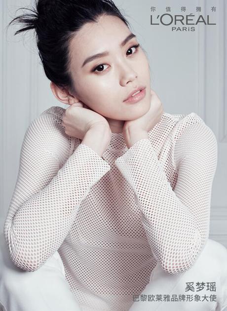 超模奚梦瑶成为巴黎欧莱雅品牌形象大使