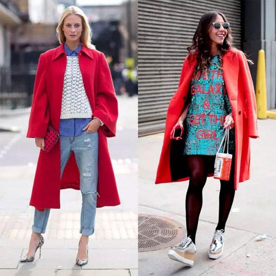 艾丽哲品牌女装 做人群中独一无二的那一个选件红色外套必不可少