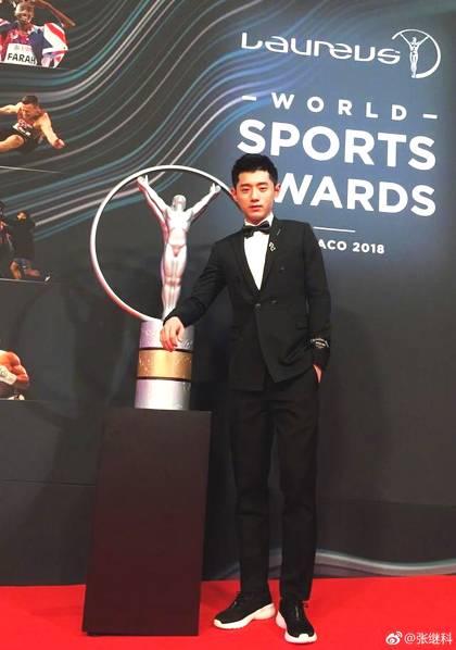张继科闪耀劳伦斯 体坛盛宴一言一行代表的是中国体育