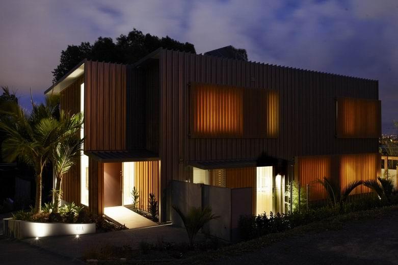 Nikau豪宅:木材和颜色都参考北欧的设计展现低调的奢华