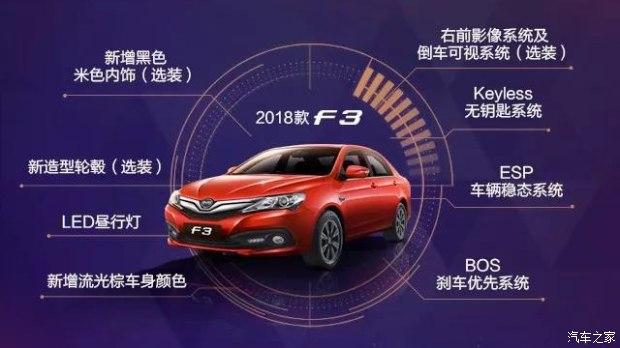 新款比亚迪F3正式上市 售价为4.39-6.59万元