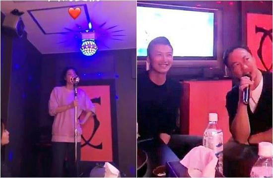 谢霆锋王菲现身KTV欢唱 谢霆锋不时甜笑看着王菲眼里都是爱!