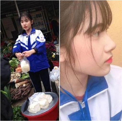 """越南高二女生被追捧 不少网友封她为""""豆腐西施"""""""