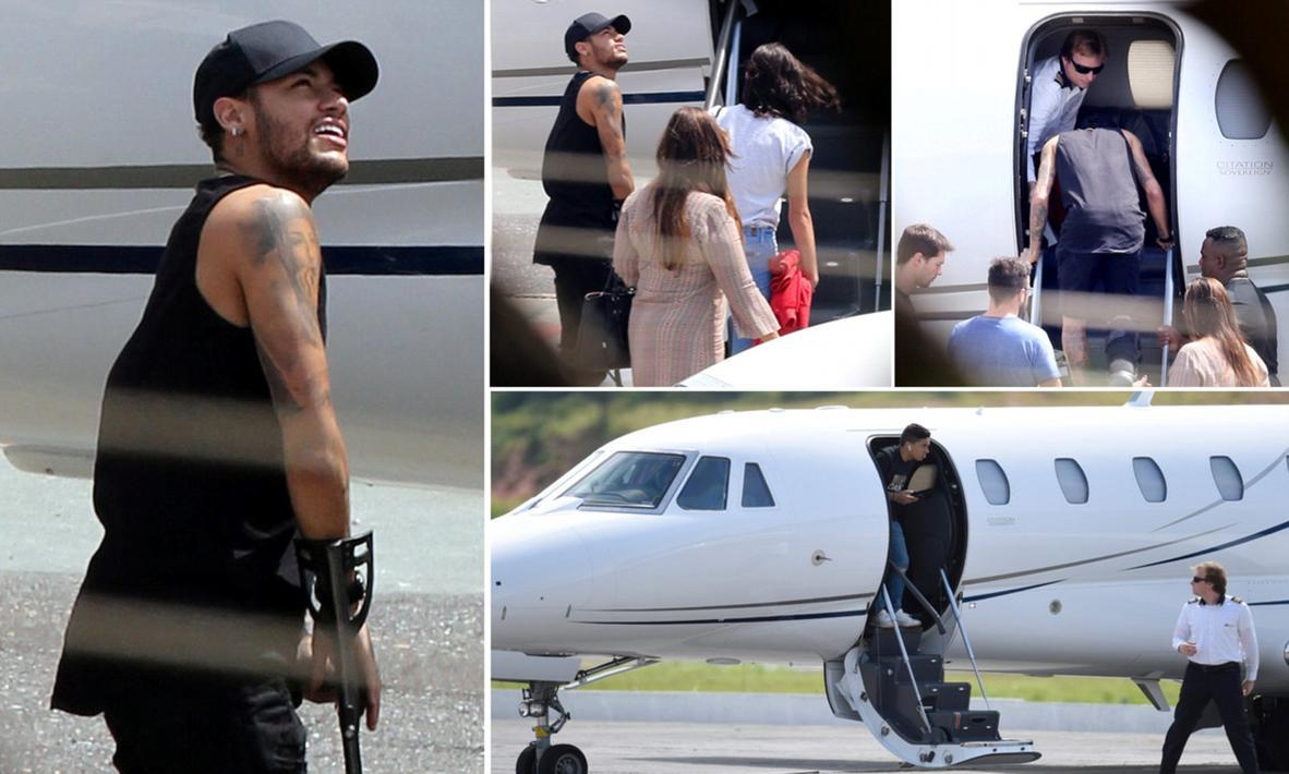 内马尔乘坐私人飞机回家养伤 右脚第五跖骨成功接受手术