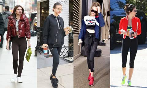 瑜伽裤成时尚界新宠 国外超模都在这样穿