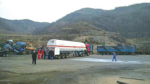 山西省22吨液化天然气泄漏 7小时救援化解险情
