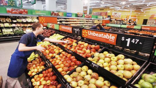 沃尔玛计划在年底前网上杂货配送服务店铺将达800家