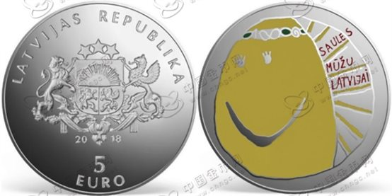 """拉脱维亚独立100周年彩色纪念银币——我的拉脱维亚"""""""