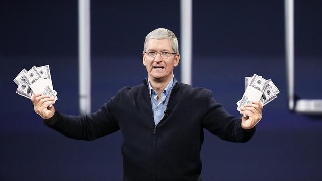 苹果手握1630亿美元净现金储备 计划全部花掉