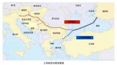 """俄气沿两条支线铺设991公里""""土耳其流""""海底段管道"""