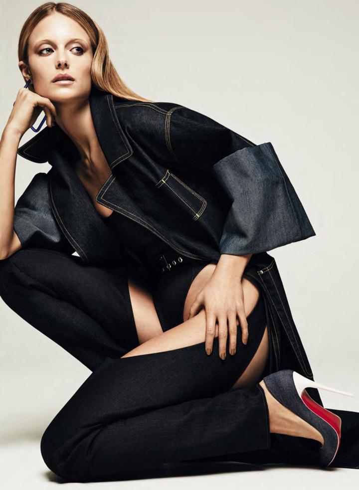 超模Kate Bock时尚大片 演绎黑色丹宁魅力