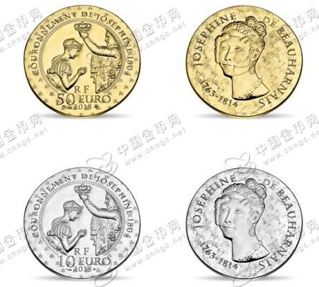 """""""法国女性""""系列纪念币:瑟芬·德·博阿尔内为主题人物"""