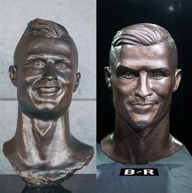 C罗又有新雕像 这回帅多了