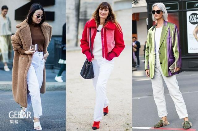 打造法式风格必备单品 白色牛仔裤这样穿才不显胖