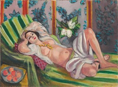 马蒂斯《侧卧的宫娥与玉兰花》 有望刷新艺术家的个人拍卖纪录