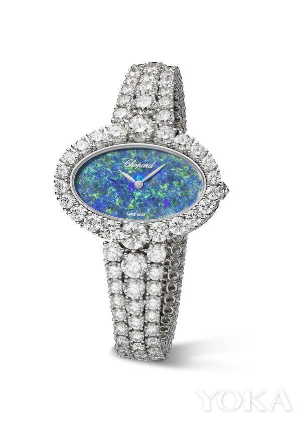 萧邦L'Heure du Diamant系列华美蛋白石腕表