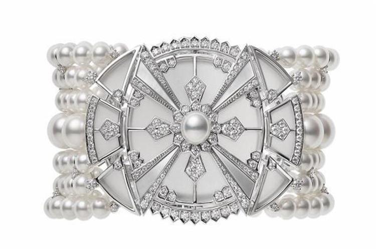 日本珠宝品牌御木本Mikimoto新一季珠宝系列:Yaguruma_珠宝图片
