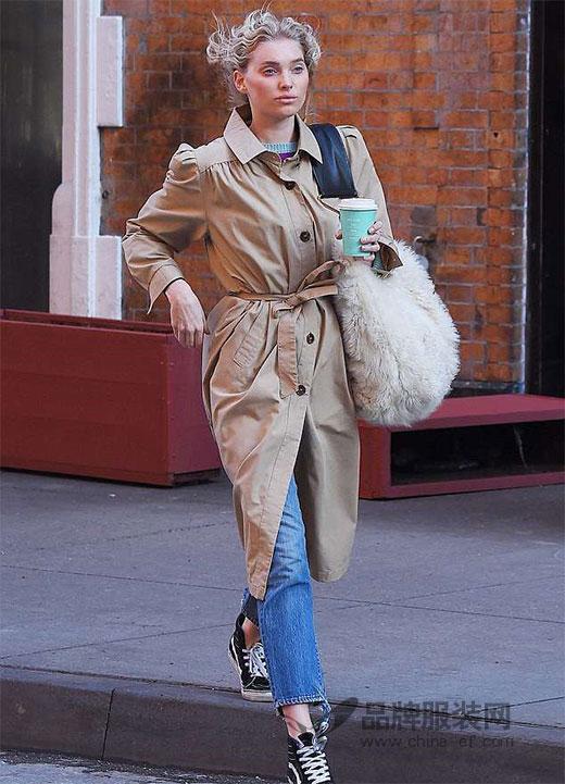 维秘天使Elsa Hosk纽约曼哈顿最新街拍