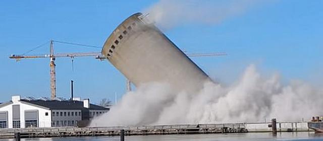 丹麦建筑发生爆破失误 庆幸没有人因此受伤