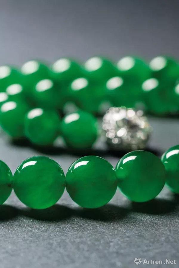 [保利香港]璀璨珠宝专场 缅甸天然翡翠珠配钻石颈链4484万港币成交