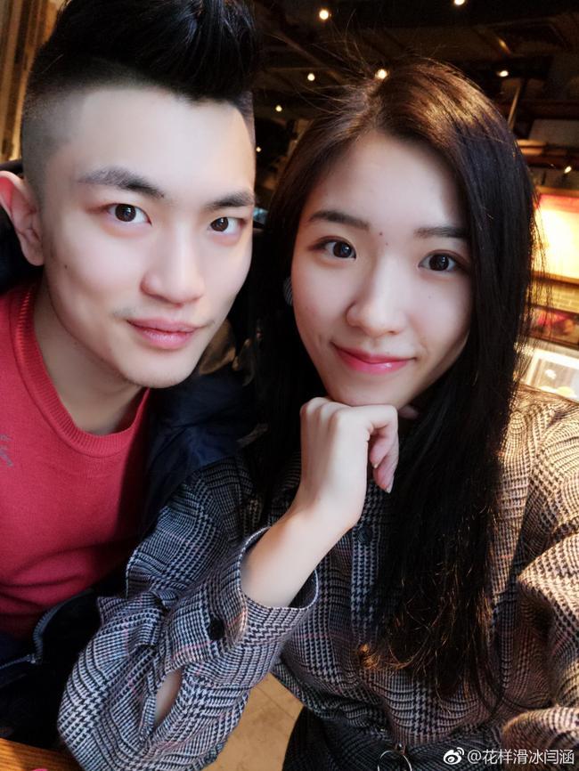 花滑闫涵公布恋情 网友大赞好漂亮的小姐姐呀!