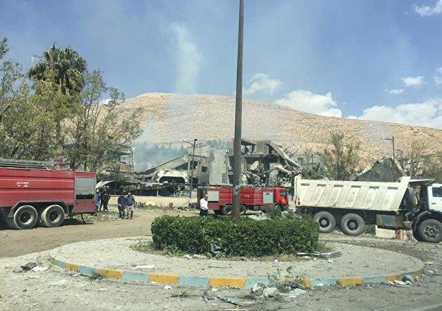 叙利亚被袭现场图曝光  所幸没有人员伤亡