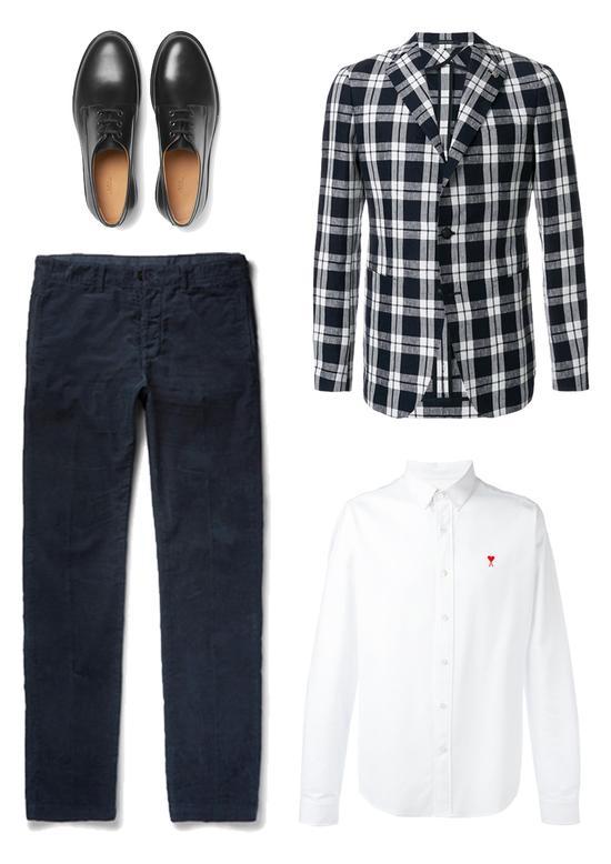 兼具商务与时髦 格纹西装夹克搭配建议