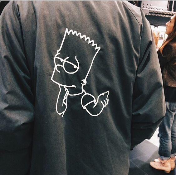 街拍中的辛普森外套