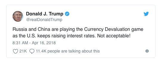"""特朗普炮轰中俄玩""""货币贬值游戏"""" 事实真的如此吗?"""