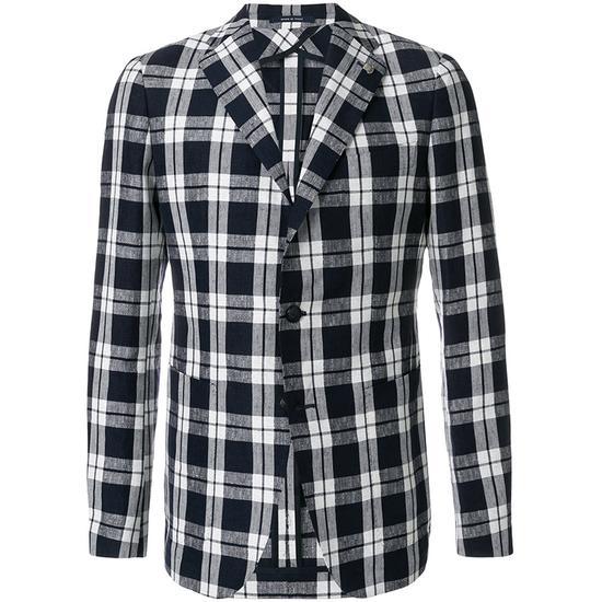 格纹西装夹克:Tagliatore售价:5067 元