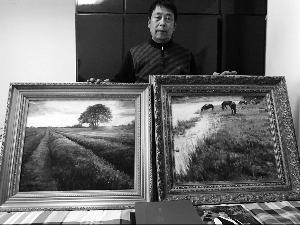 生活困难之际同窗送出吴宜恩油画作品