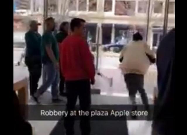 苹果专卖店遭抢劫 当地警方已展开调查