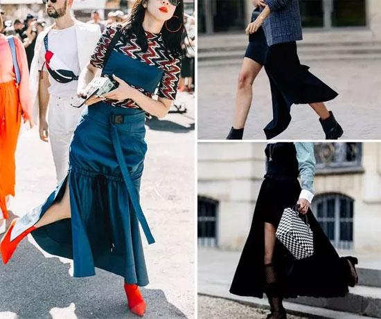 不规则、不对称设计的裙装让你穿出时髦高街感