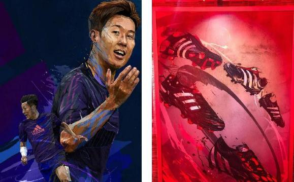首尔举办插画师Yann Dalon的阿迪达斯猎鹰展览