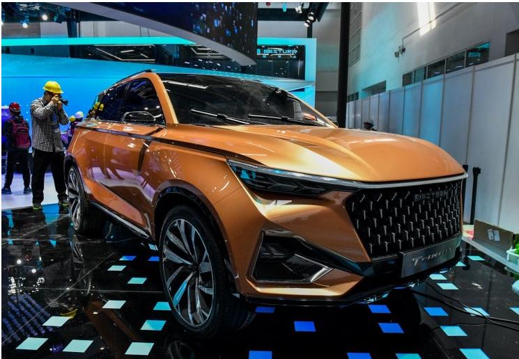 一汽奔腾T77概念车亮相北京车展
