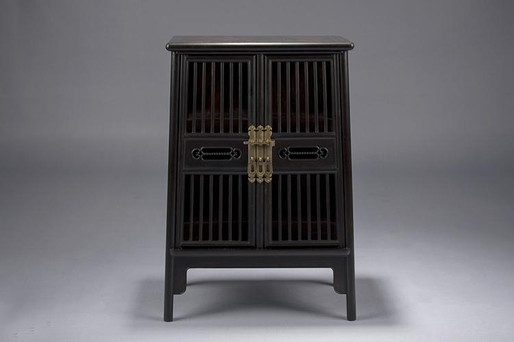 """红木家具价格 """"东非黑黄檀梳子小圆角柜""""多少钱?"""