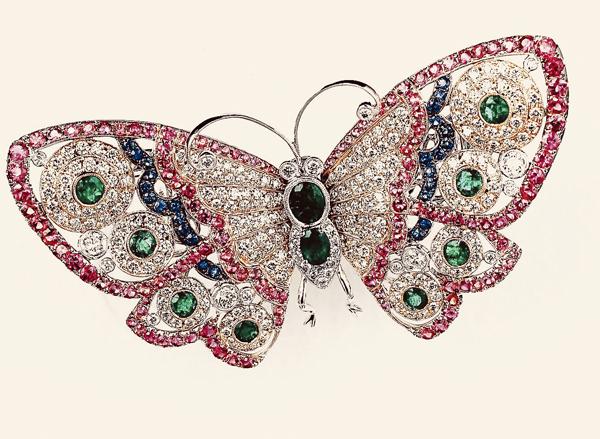 比利时高级珠宝世家 MONETA La Mode系列 呈现蝴蝶为主题的春夏新作