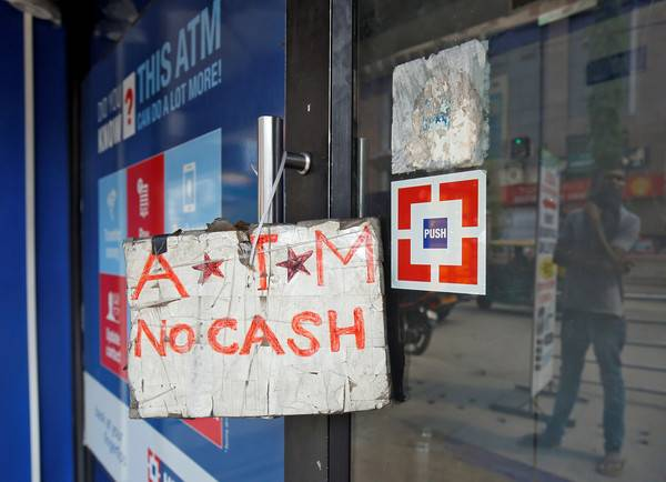印度再闹现金荒 ATM几乎都取不了钱