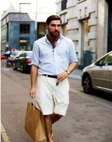 夏季型男短裤搭配技巧 让你成为时尚男神